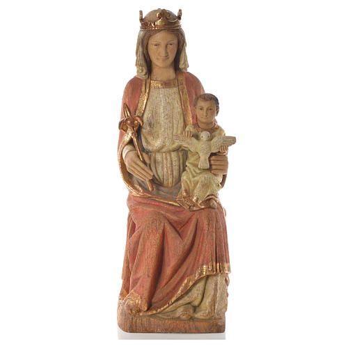 Our Lady of Rosay statue in painted wood 105 cm, Bethleem 5