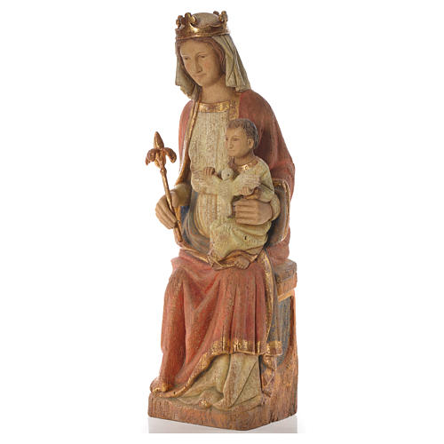 Our Lady of Rosay statue in painted wood 105 cm, Bethleem 6