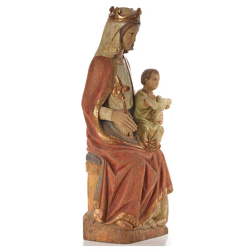 Our Lady of Rosay statue in painted wood 105 cm, Bethleem 8