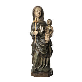 Our Lady of Voirons statue in painted wood 100 cm, Bethleem s1