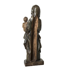 Our Lady of Voirons statue in painted wood 100 cm, Bethleem s4