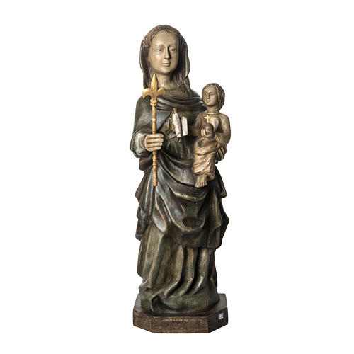 Our Lady of Voirons statue in painted wood 100 cm, Bethleem 1
