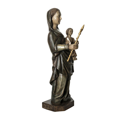 Our Lady of Voirons statue in painted wood 100 cm, Bethleem 2