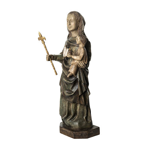 Our Lady of Voirons statue in painted wood 100 cm, Bethleem 3