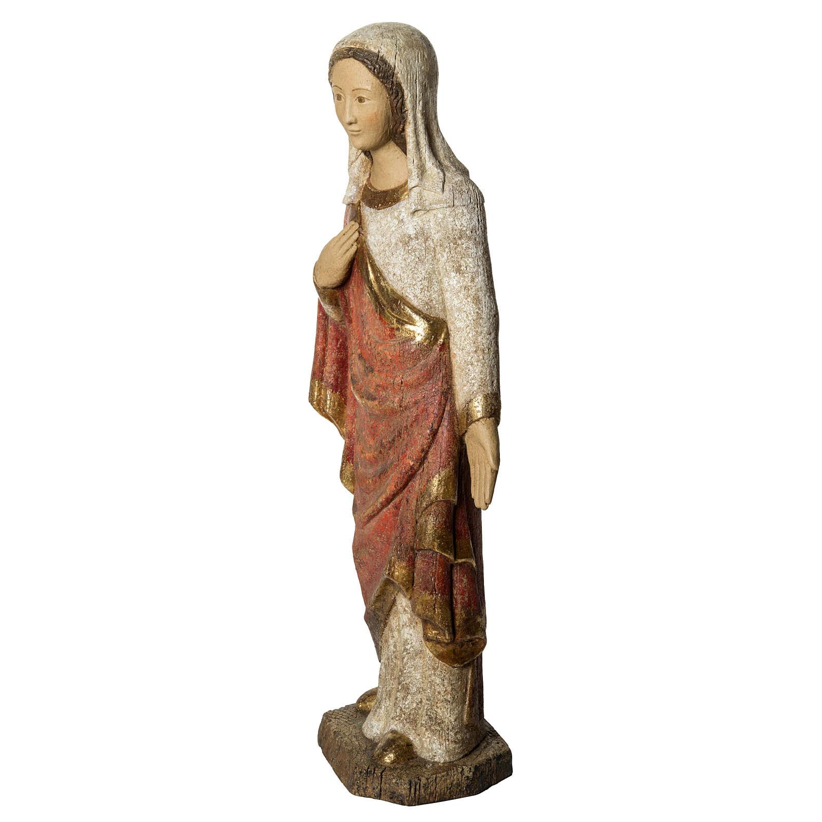 Vergine dell'Annunciazione 74 cm legno finitura antica 4