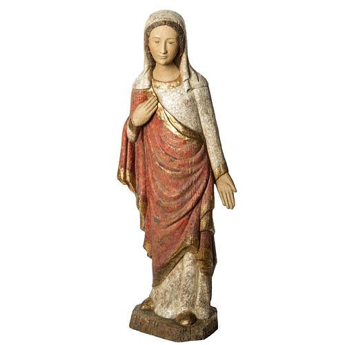Vergine dell'Annunciazione 74 cm legno finitura antica 1