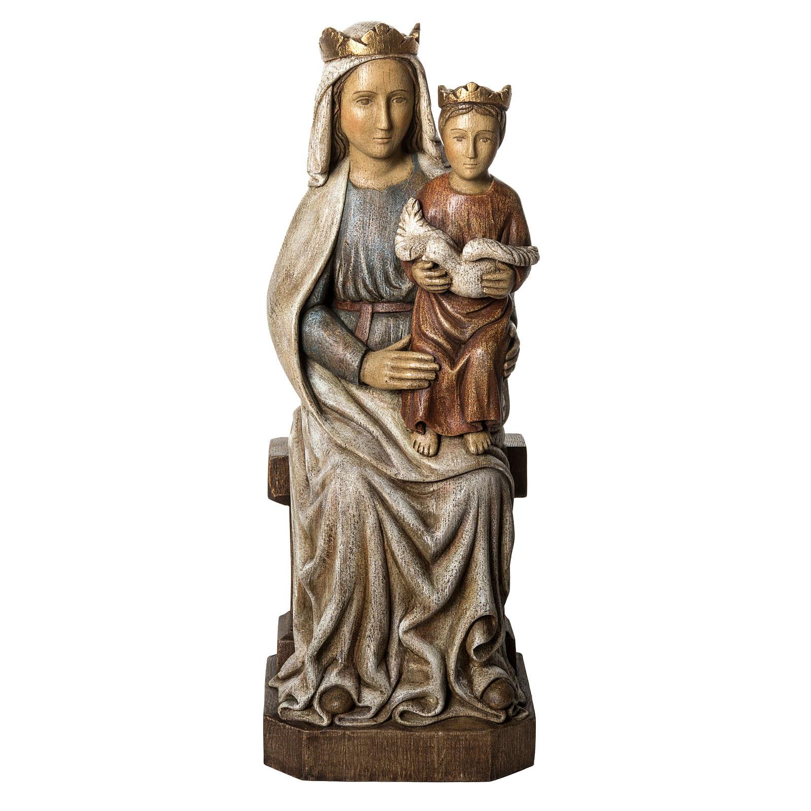 Notre Dame de Liesse 66 cm bois peint Bethléem 4