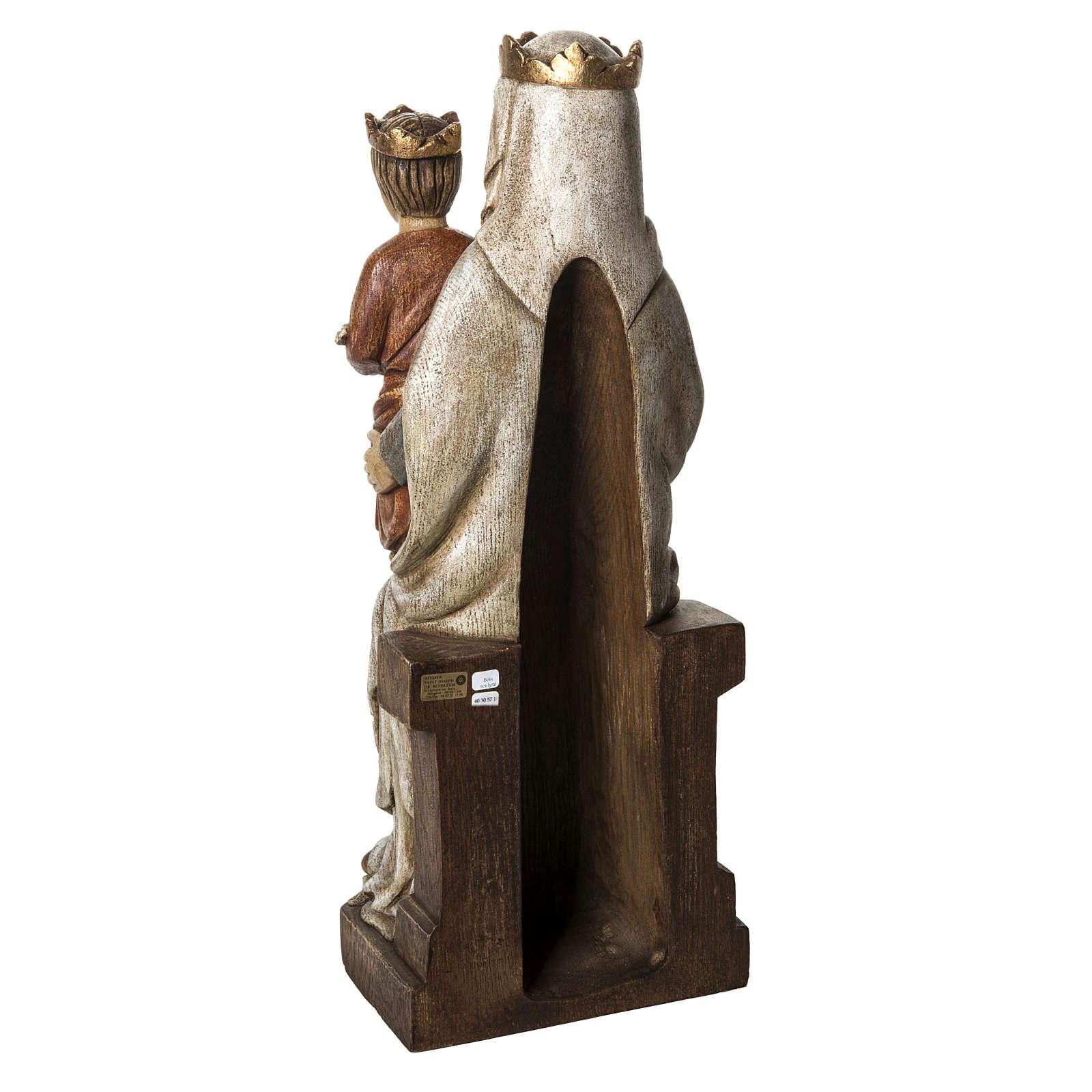 Madonna di Liesse 66 cm legno dipinto Bethléem 4