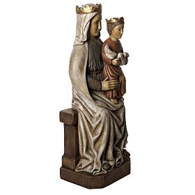 Madonna di Liesse 66 cm legno dipinto Bethléem s2
