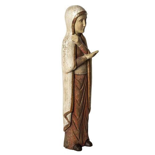 Mater Dolorosa Battlo 78cm Holz, antikisiertes Finish