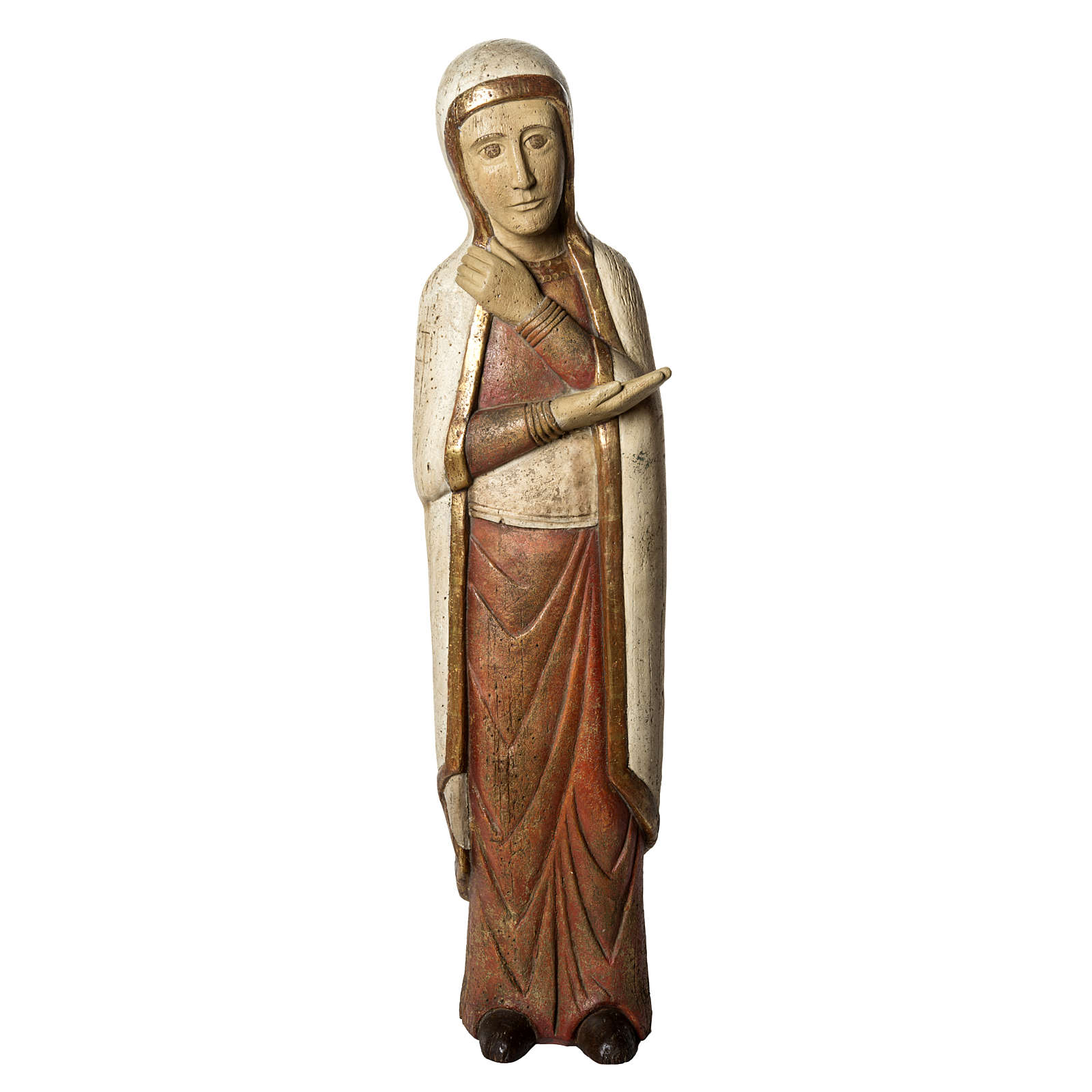 Vierge de Batloo 78 cm bois ancien Bethléem 4