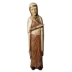 Vierge de Batloo 78 cm bois ancien Bethléem s1