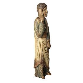 Heiliger Johannes Batllo 78cm Holz, antikisiertes Finish s2
