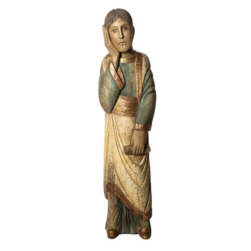 Heiliger Johannes Batllo 78cm Holz, antikisiertes Finish 1