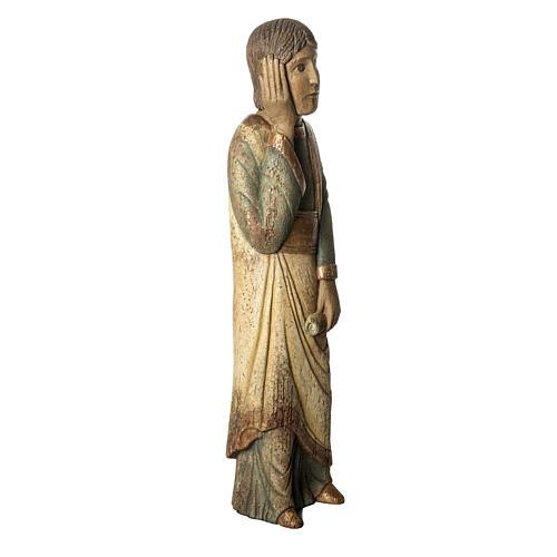 Heiliger Johannes Batllo 78cm Holz, antikisiertes Finish 2
