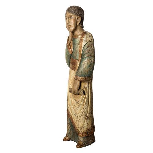 Heiliger Johannes Batllo 78cm Holz, antikisiertes Finish 3