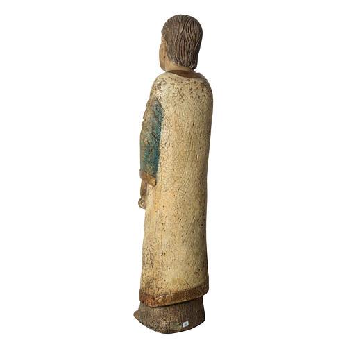 Heiliger Johannes Batllo 78cm Holz, antikisiertes Finish 4