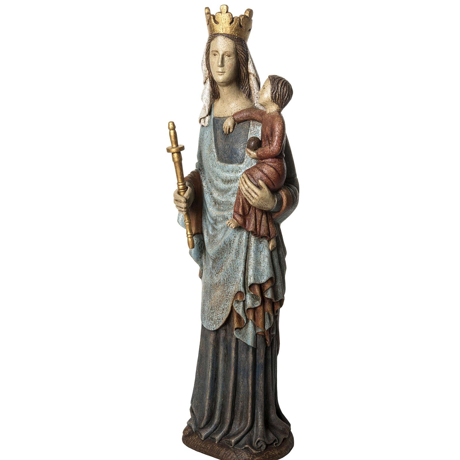 Notre Dame de Bourguillon 74 cm legno dipinto Bethléem 4