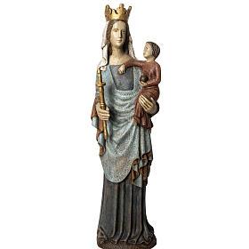Notre Dame de Bourguillon 74 cm legno dipinto Bethléem s1