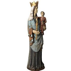 Notre Dame de Bourguillon 74 cm legno dipinto Bethléem s2