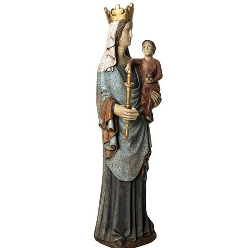 Notre Dame de Bourguillon 74 cm legno dipinto Bethléem 2