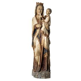 Vierge du Lyonnais 120 cm legno finitura antica Bethléem s1