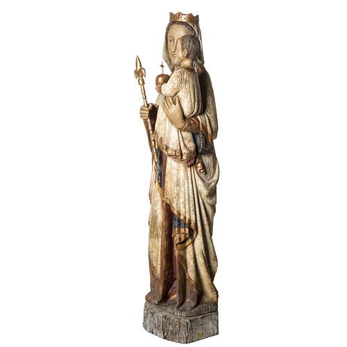 Vierge du Lyonnais 120 cm legno finitura antica Bethléem 3