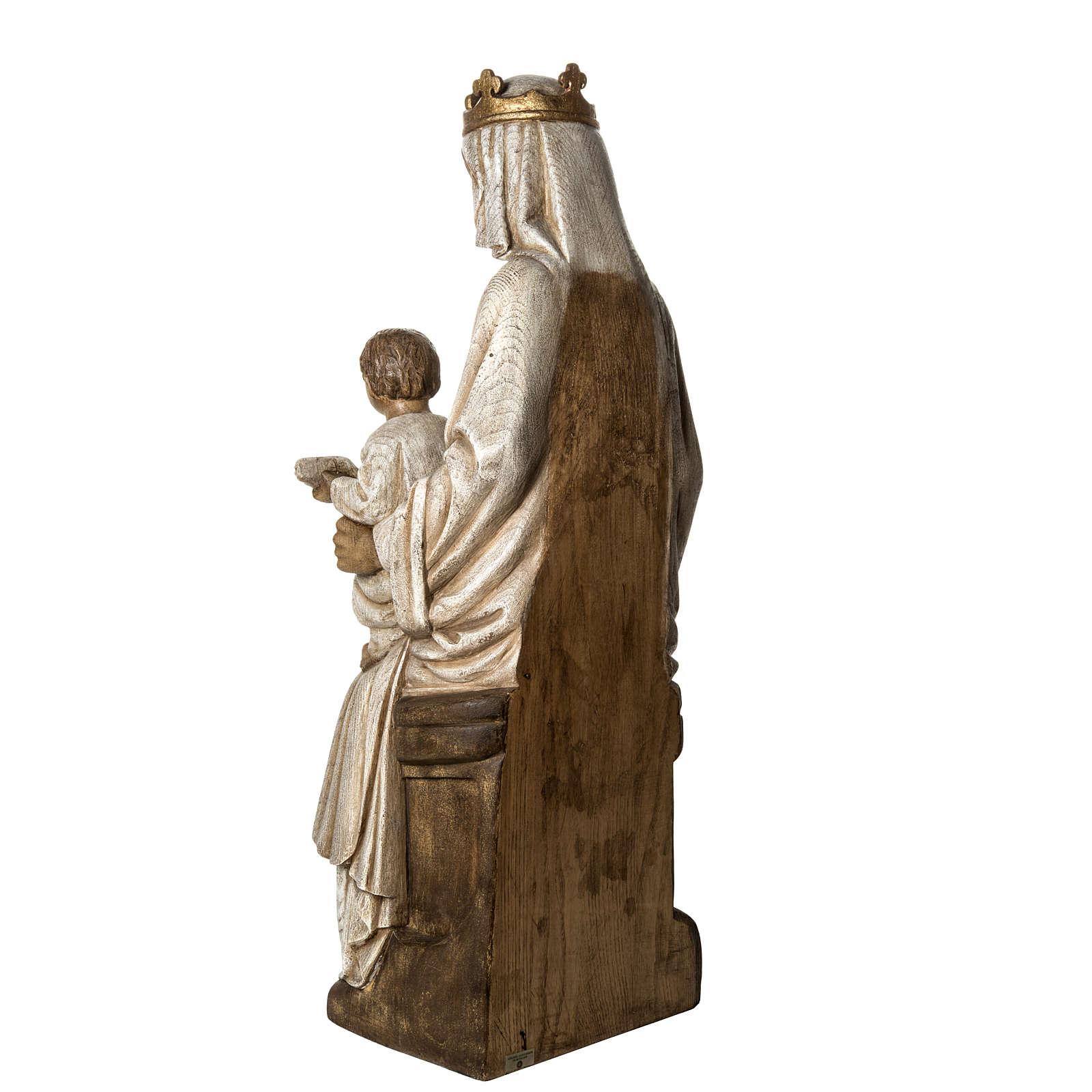 Notre Dame de Rosay 105 cm bois ancien Bethléem 4