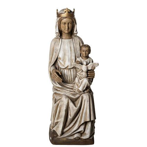 Notre Dame de Rosay 105 cm bois ancien Bethléem 1