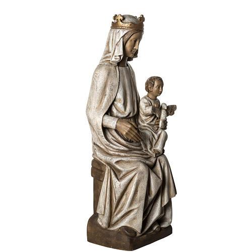 Notre Dame de Rosay 105 cm bois ancien Bethléem 2