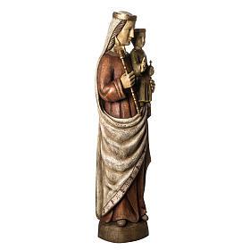 Vergine Normanna 103 cm legno dipinto Bethléem s2