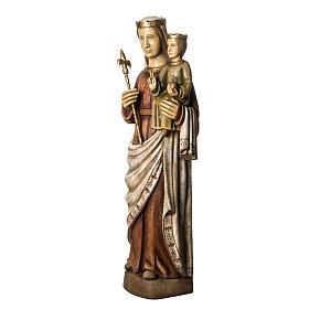 Vergine Normanna 103 cm legno dipinto Bethléem s3