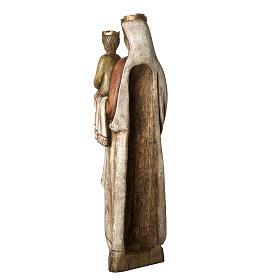 Vergine Normanna 103 cm legno dipinto Bethléem s4