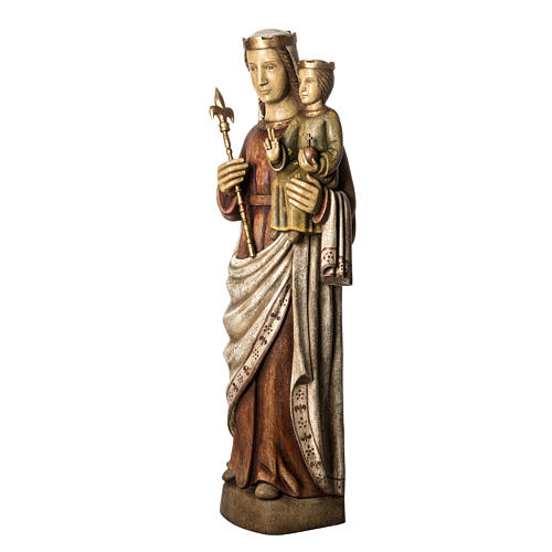 Vergine Normanna 103 cm legno dipinto Bethléem 3