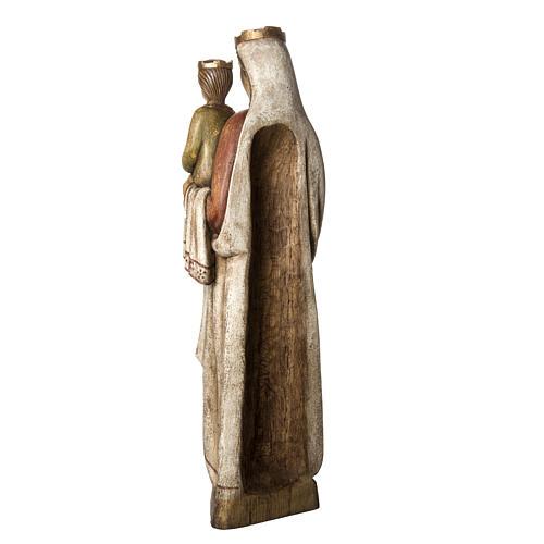 Vergine Normanna 103 cm legno dipinto Bethléem 4