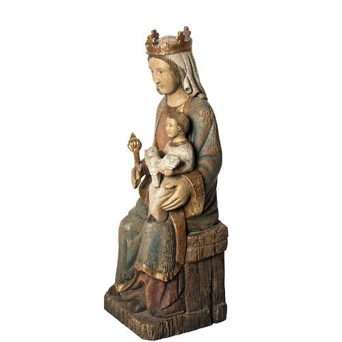 Vierge de Rosay 60 cm legno dipinto Bethléem 3