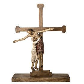 Grablegung Christi 105cm Holz antikisiertes Finish s1