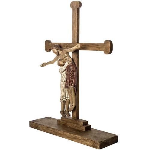 Grablegung Christi 105cm Holz antikisiertes Finish 3
