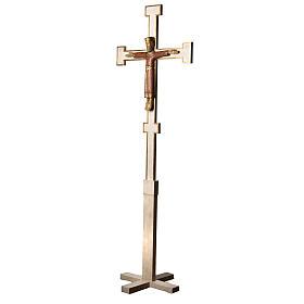 Christ Prêtre sur croix et trépied 2m bois Bethleem s3