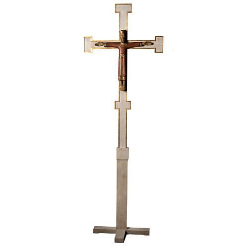 Christ Prêtre sur croix et trépied 2m bois Bethleem 1