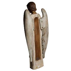 Angelo Annunciazione 100 cm legno dipinto Bethléem s4