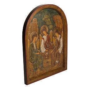 Holy Trinity Bas-relief in painted Bethléem wood 62cm s2