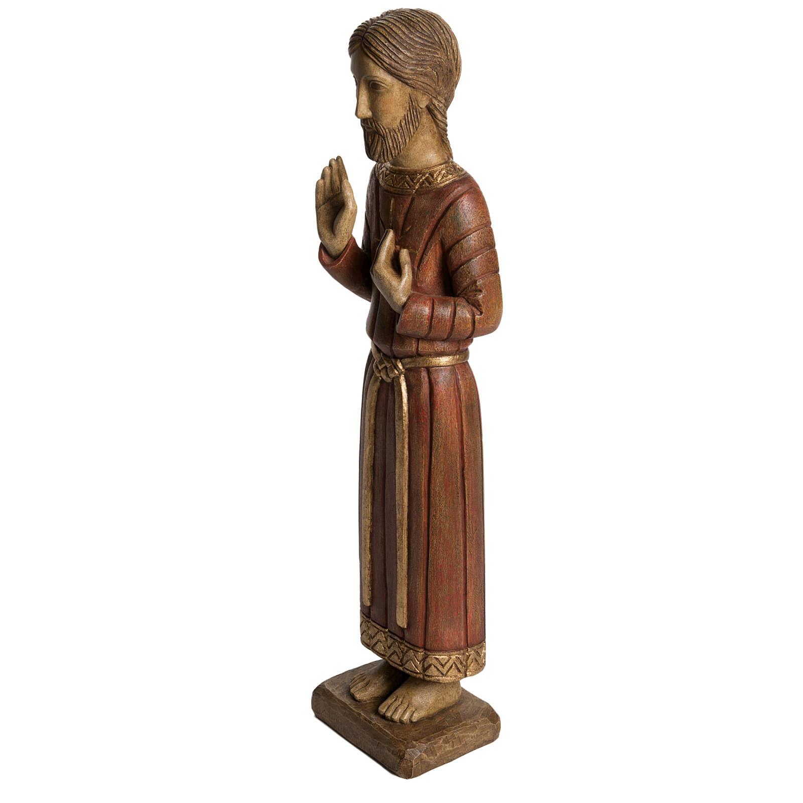 Sacro Cuore di Gesù gotico 58 cm legno Bethléem 4
