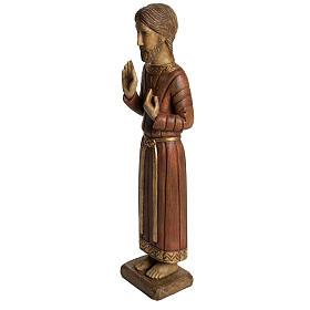 Sacro Cuore di Gesù gotico 58 cm legno Bethléem s3