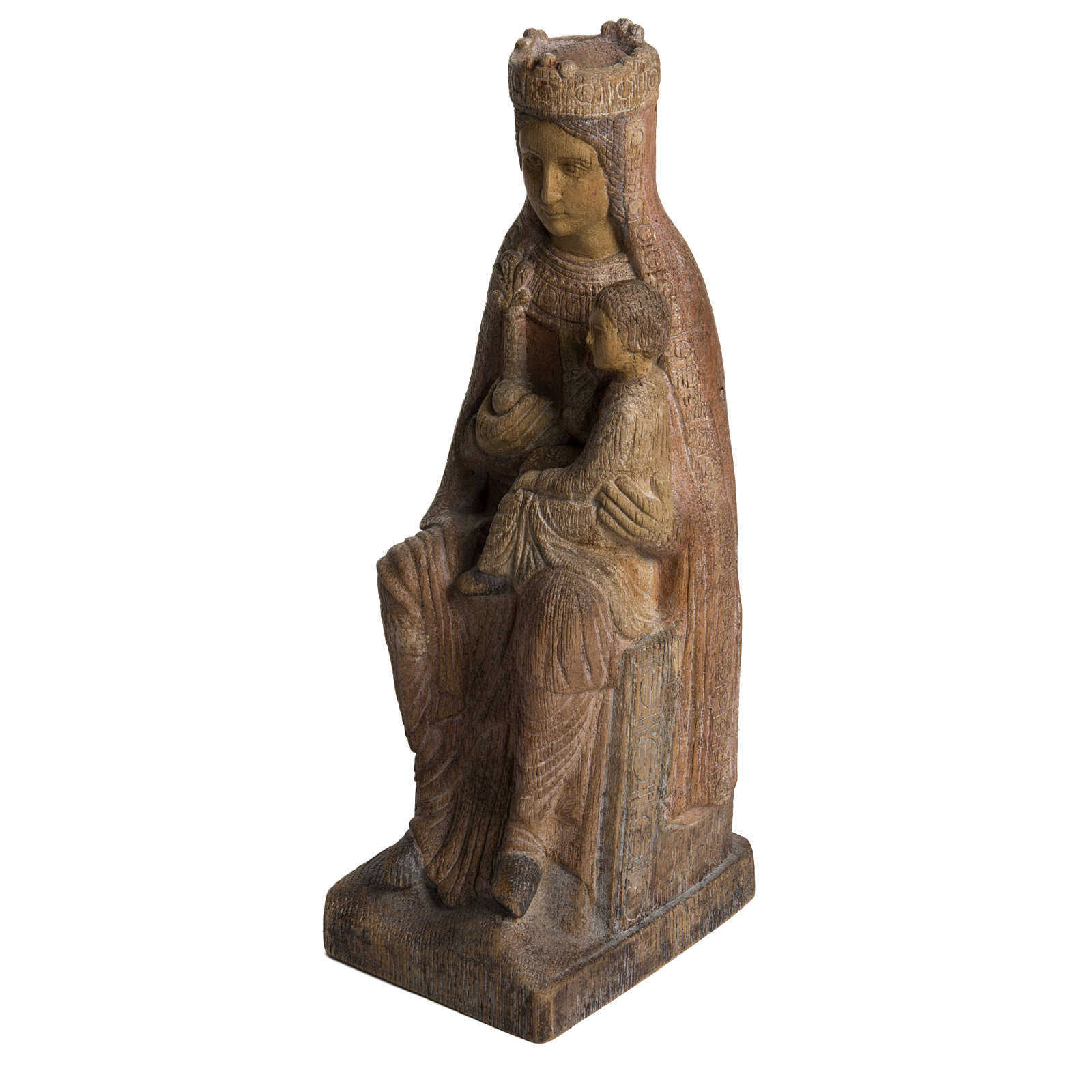 Vergine di Solsona 36 cm legno anticato Bethléem 4