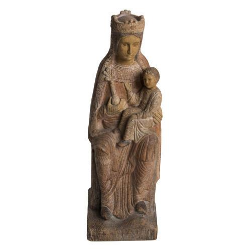 Vergine di Solsona 36 cm legno anticato Bethléem 1