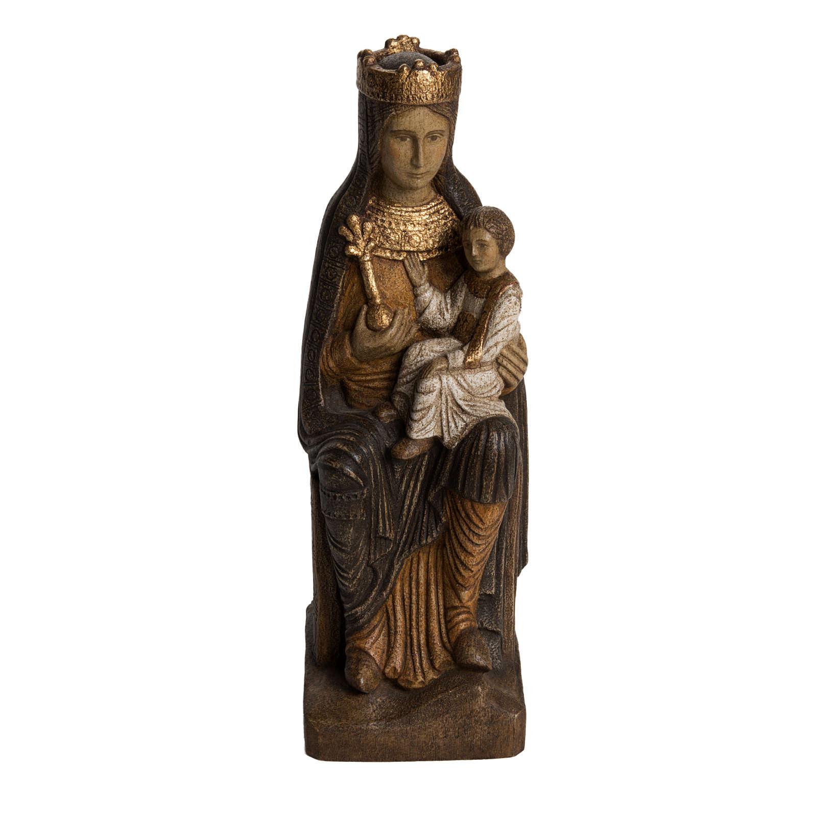 Vergine di Solsona 36 cm legno finitura policromata 4