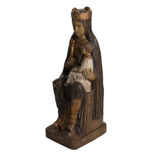 Vergine di Solsona 36 cm legno finitura policromata 3