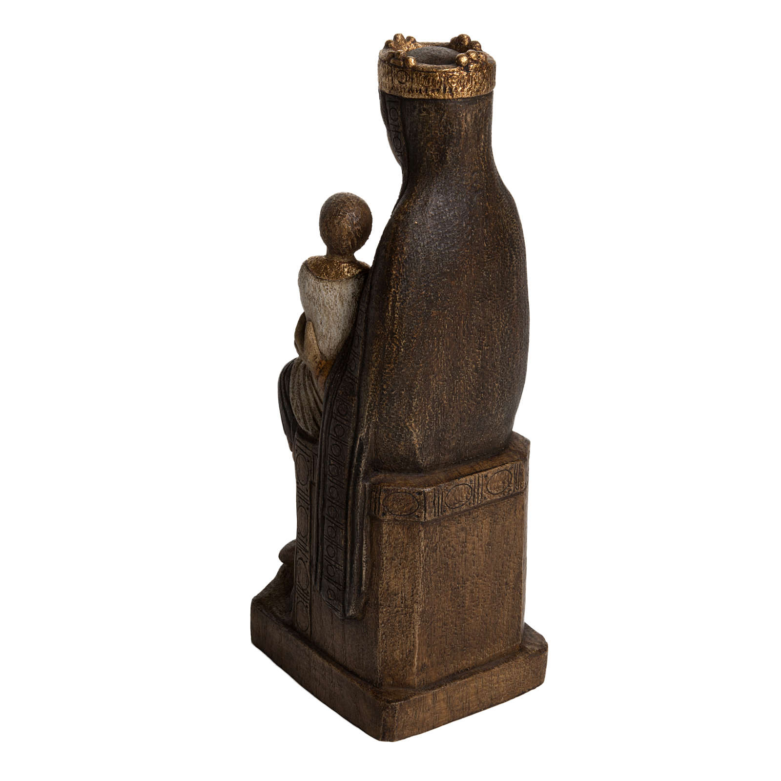 Virgin of Solsona statue in painted Bethléem wood, polychromati 4