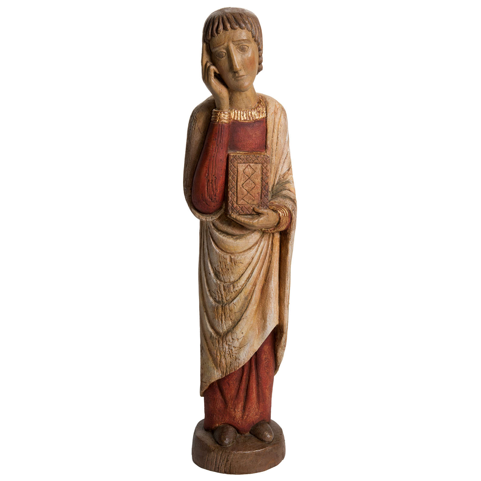 San Giovanni del Calvario Romano 49 cm legno finitura antico 4